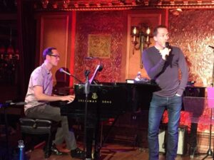 David & Tom at Feinstein's/54 Below in rehearsal for Departures (2017)