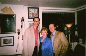 David & Tom with television star and collaborator Rue McClanahan (2009)
